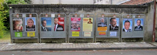 Affiches dix candidats élection présidentielle 2012