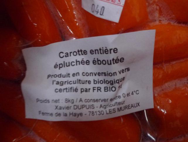 carottes eboutees